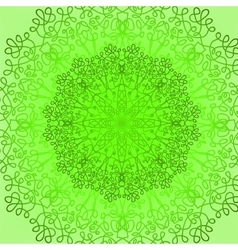 Green Circle Lace Ornament vector image