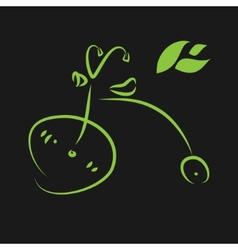 Green eco bike vector