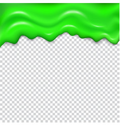 green seamless dripping slime vector image