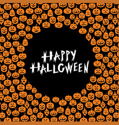 halloween pumpkin greeting card vector image