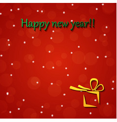 Happy new year gold and black collors place vector