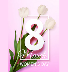 Happy womens day march 8 holiday greeting card vector