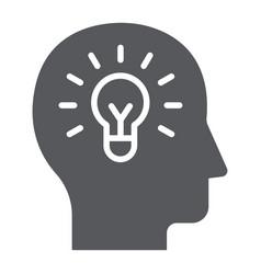 human idea glyph icon creativity and solution vector image
