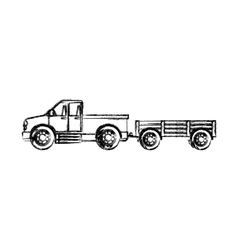 Isolated farm truck design vector