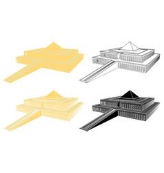 king mentuhotep ii temple in perspective view vector image