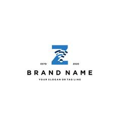 Letter z wireless logo design vector