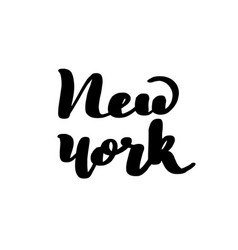 lettering inscription new york vector image