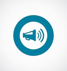 Loudspeaker icon bold blue circle border vector