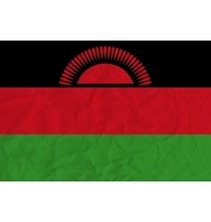 Malawi paper flag vector