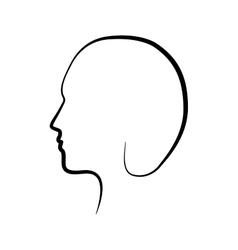 man male head avatar icon graphic vector image