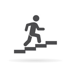 man stairs icon for web business finance and vector image