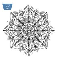 mandala coloring page vintage decorative vector image