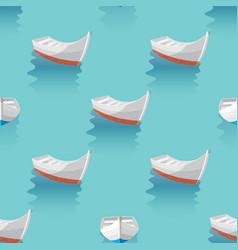 marine print boat sailing in blue sea the boats vector image