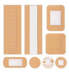 Medical bandage plastering shapes adhesive vector