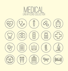 Medical Linear Icons vector image