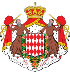 Monaco coat-of-arms vector