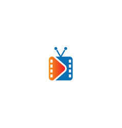 Movie tv cinema logo vector