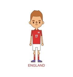National england soccer football player vector image