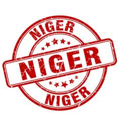 Niger red grunge round vintage rubber stamp vector