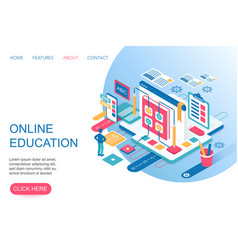 Online education training courses internet vector