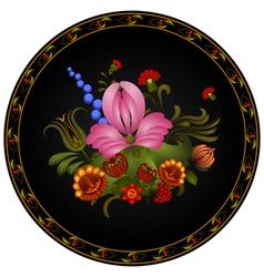 Petrikov painting Vintage floral ornament vector image