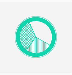 pie chart icon sign symbol vector image