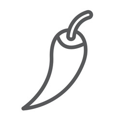 red hot chili pepper line icon vegetable vector image
