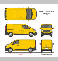 renault tragic cargo delivery van l1h1 2014 vector image