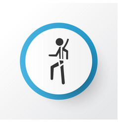 risk icon symbol premium quality isolated safety vector image