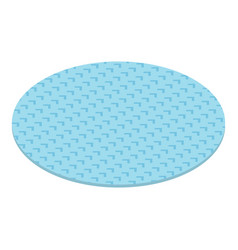 round carpet icon isometric style vector image