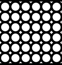 Seamless pattern geometric tiles circles rings vector