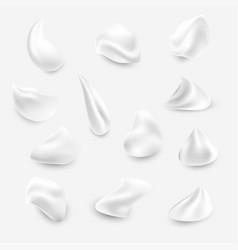 set of white cream elements vector image