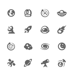 Simple Space Icons vector image