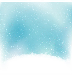Snowfalls and snow hump vector