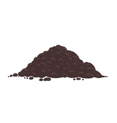 Soil for growing plants pile ground heap of vector