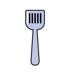 Spatula kitchen utensil object to cuisine vector