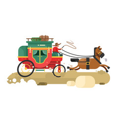 stagecoach design flat vector image