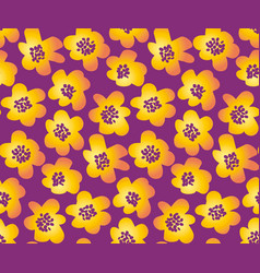 Summer floral in retro 60s style abstract hand vector