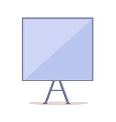Tripod Whiteboard with Blank Board Screen vector image