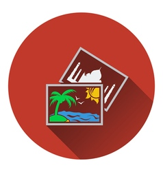 Two travel photograph icon vector