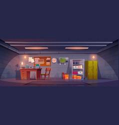 underground bunker bomb shelter interior vector image