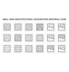 Wall and architectural decoration material icon vector