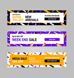 web banner layout template design vector image