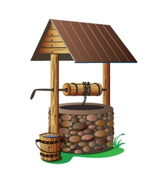With clean water well vector