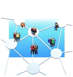 Business connection vector image vector image