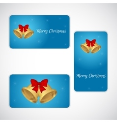 Christmas set of gift cards in three versions vector image vector image