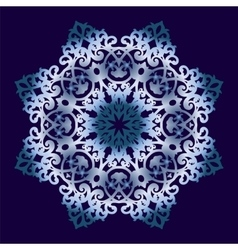 Circular ornament on blue background vector image