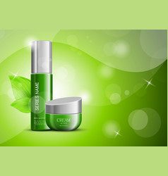 Cosmetic products ads design template vector