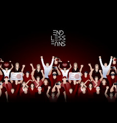 crowd of cheering fans vector image