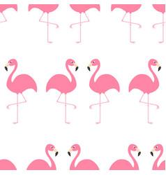 flamingo seamless pattern exotic tropical bird vector image